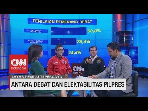 Antara Debat & Elektabilitas Pilpres | Layar Pemilu Tepercaya