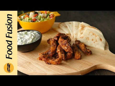 Greek Chicken Gyro With Tzatziki Sauce Recipe By Food Fusion