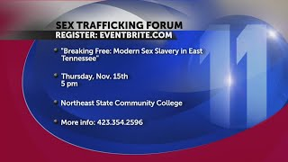 Sex trafficking forum set for Northeast State