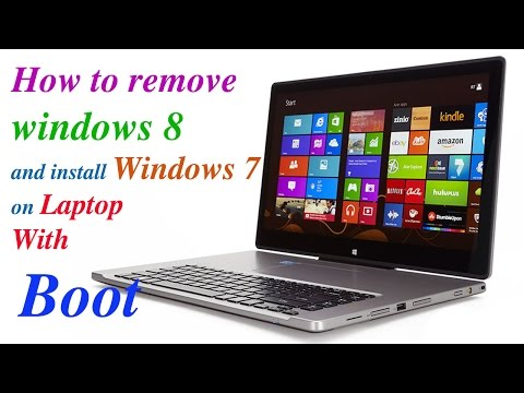 How To Remove Windows 8 And Install Windows 7 In An Acer Aspire  E 5-571-34lb