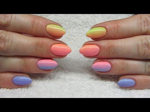Colorfull ombre nails - Kolorowe cieniowane paznokcie - NeoNail