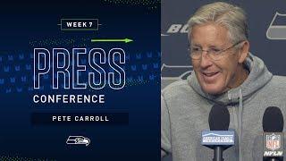 Head Coach Pete Carroll Week 7 Wednesday Press Conference | 2019 Seattle Seahawks