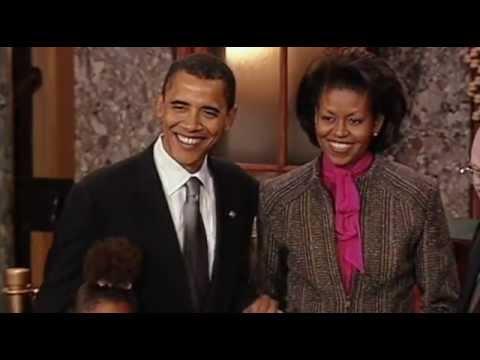 Barack Obama sworn in as Senator (January 2005)
