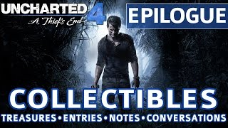 uncharted 4 epilogue all collectible locations treasures journal entries notes conversations