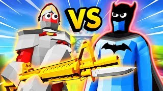 Machine Gun Unit VS The Mighty BATMAN In TABS (Totally Accurate Battle Simulator Gameplay)