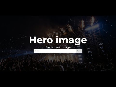 Hero Image O Banner Usando Html Y Css