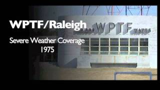 WPTF-AM: Severe Weather Coverage (March 19, 1975)