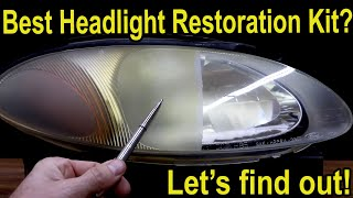 Best Headlight Restoration Kit?  Let's find out!  3M, Sylvania, Meguiar's, Mothers, Turtle Wax & HF
