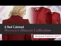 6 Red Colored Women's Blazers Collection Amazon Fashion 2017