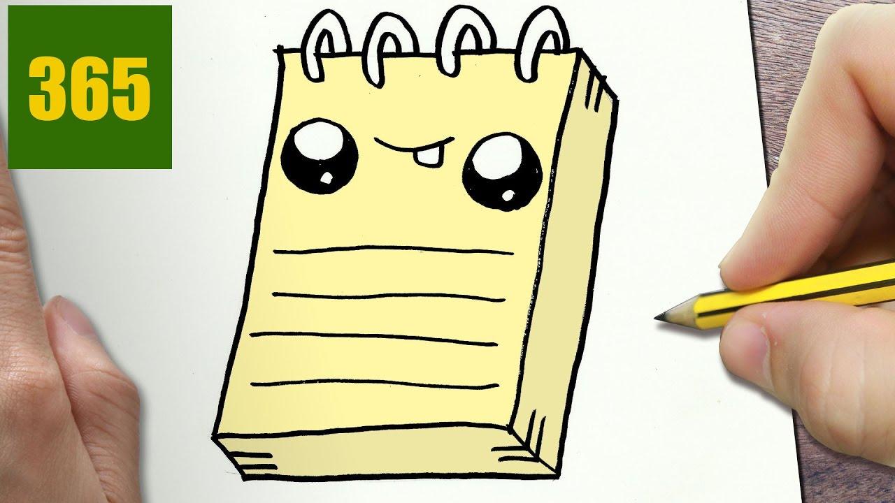Come disegnare taccuino kawaii passo dopo passo disegni for Disegni facili kawaii