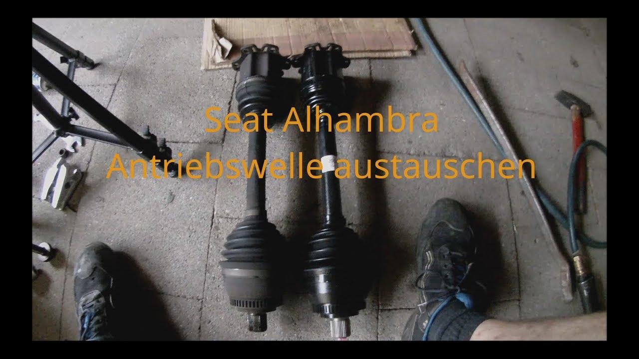 seat alhambra antriebswelle rechts austauschen youtube. Black Bedroom Furniture Sets. Home Design Ideas