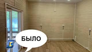 Модульная кухня «Регина», цвет Олива. Проект «Дизайнер на дом». Кухня в загородном доме.