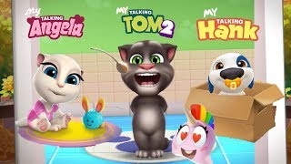 My Talking Tom 2 vs My Talking Hank - My Talking Angela Gameplay