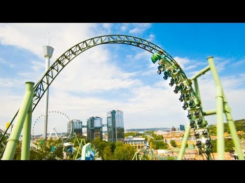 RACING DRONE VS ROLLERCOASTER HELIX! A different POV