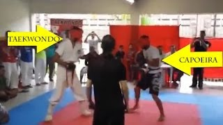 Taekwondo VS Capoeira - Real Fight 2014