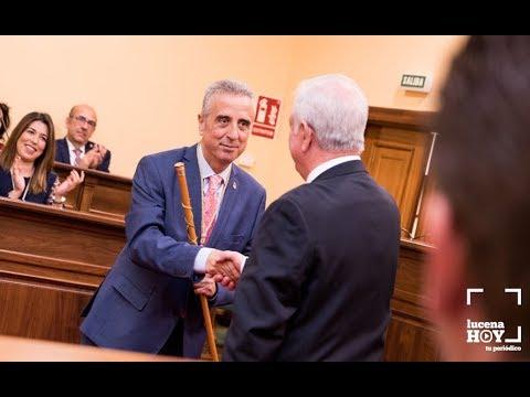 VÍDEO: Así era proclamado alcalde de Lucena Juan Pérez