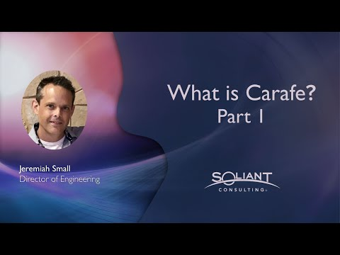 What is Carafe? Part 1