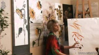 Урок по рисованию подсолнуха при помощи живописи У Син