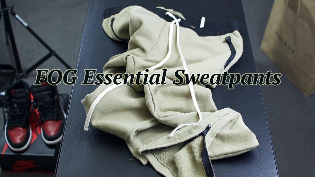 3b7d8287 FOG Essentail Sweatpants + More - YouTube