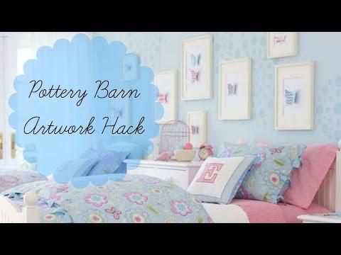 Girls' Bedroom DIY Pottery Barn Kids Artwork Hack:Inexpensive & Easy!