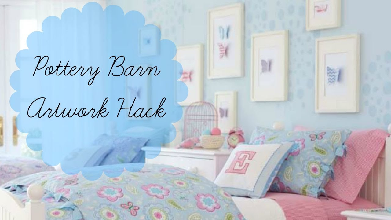 Inexpensive Artwork girls' bedroom diy pottery barn kids artwork hack: inexpensive