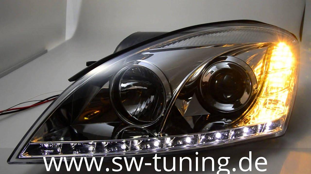 sw light scheinwerfer kia ceed chrome led standlicht sw. Black Bedroom Furniture Sets. Home Design Ideas