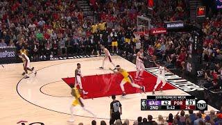 2nd Quarter, One Box Video: Portland Trail Blazers vs. Los Angeles Lakers