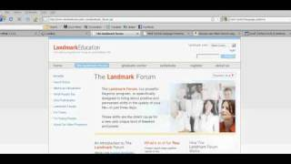 Mind Control Language Patterns Used In Landmark Forum