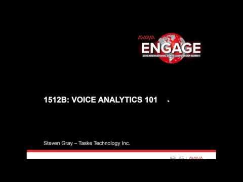 Voice Analytics 101