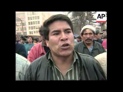 PERU: PROTESTORS FOR BETTER EMPLOYMENT TERMS CLASH WITH POLICE