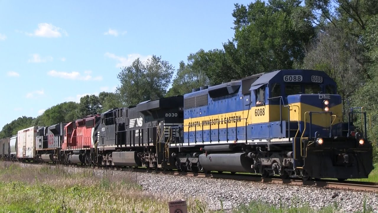 Two CP Trains in the Wisconsin Dells Area 7/30/2015 - YouTube