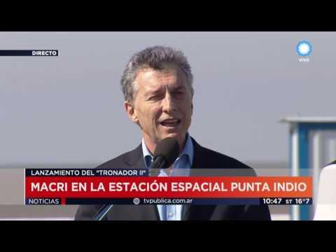 TV Pública Noticias - Macri visitó la estación espacial de Punta Indio