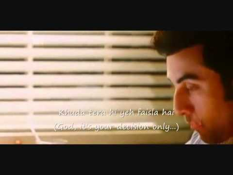 Tujhe Bhula Diya....Anjaana Anjaani with lyrics and English Translation..