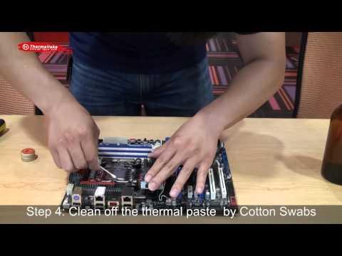 Tt Guru - How to Clean off Thermal Paste from CPU and Heatsink