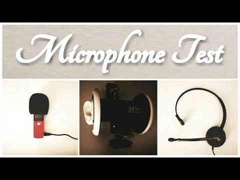 ASMR Microphone Comparison Test - Tell me Your Favourite! (3Dio, Zoom, Headset)