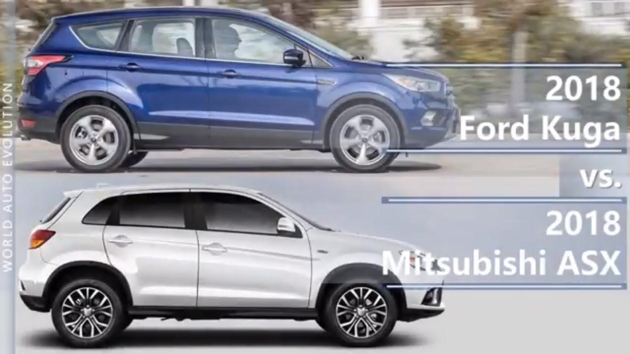2018 Ford Kuga Vs 2018 Mitsubishi Asx Outlander Sport Technical Comparison Youtube