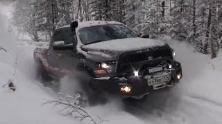 Как нужно отрываться зимой на внедорожниках Ford F150 vs Dodge Ram