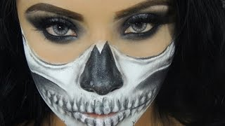 Halloween Makeup Tutorial Sexy Half Skull Face