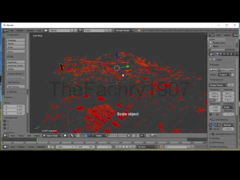 Blender: Extrude from .osm (Open Street Map) Building City