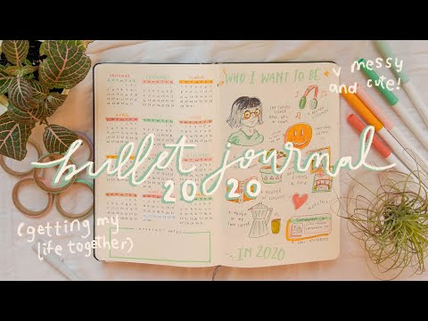 my bullet journal set-up 2020 (aka getting my life together)