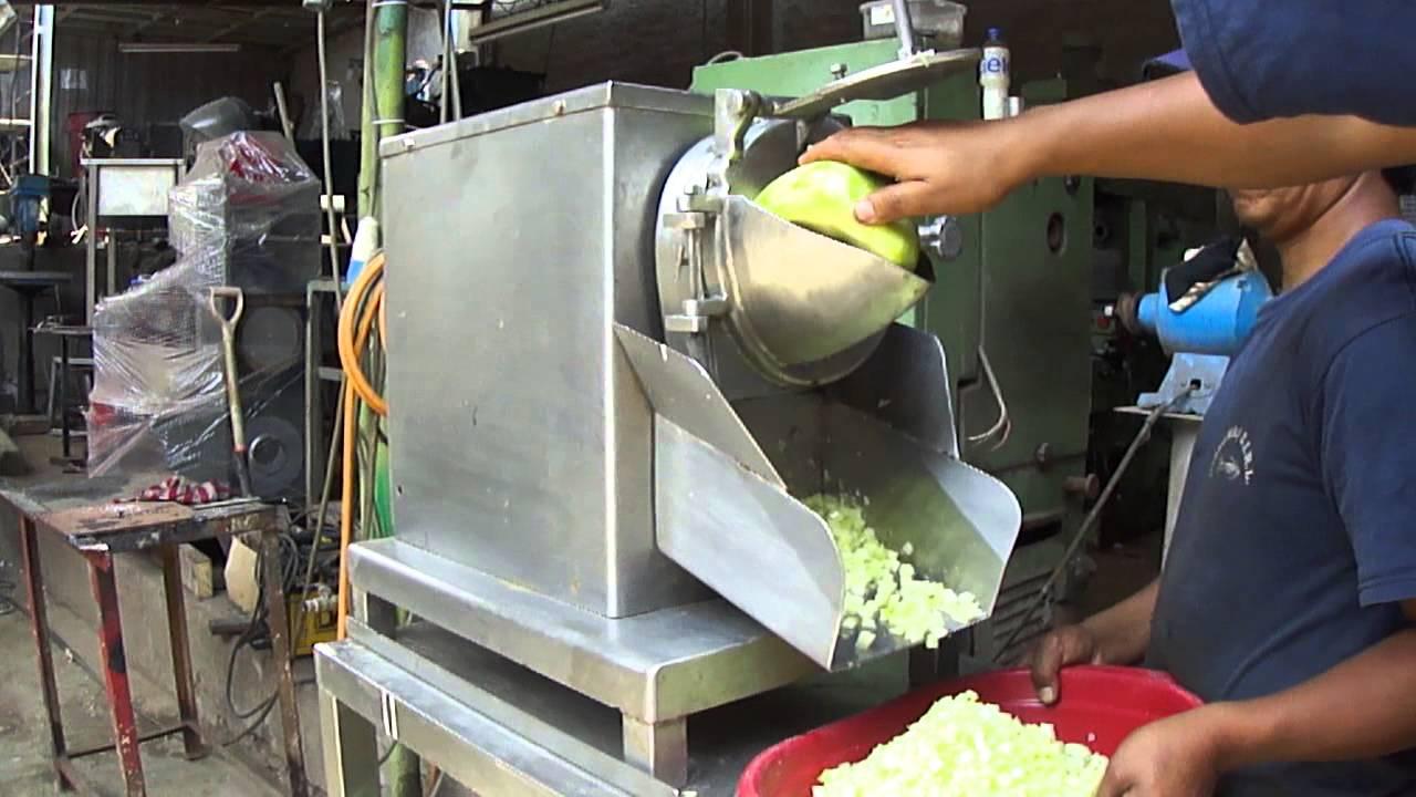 m u00e1quina cortadora en cubos  vegetales  frutas y etnicos