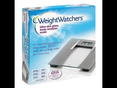 Weight watchers body analysis scales unboxing and quick look.