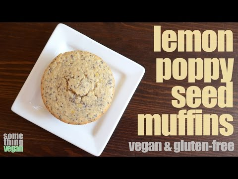 lemon poppy seed muffins (vegan & gluten-free) Something Vegan