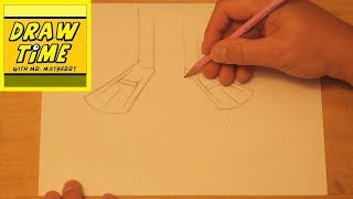 How to Draw Flippers (or Swim Fins)