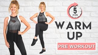 5 Minute Warm Up for At Home Workouts   No Jumping!