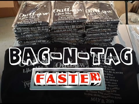 Bag Shirts Fast! Poly Bags, Quick Tip.