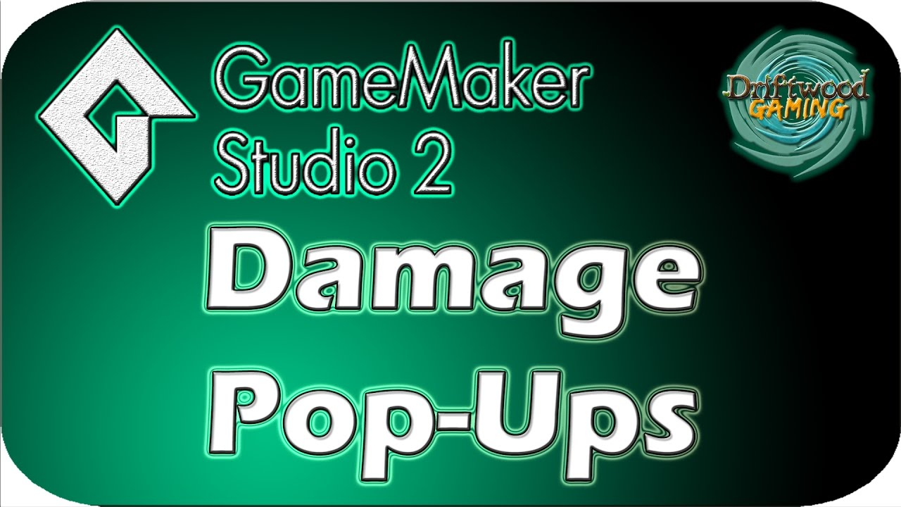 GMS 2 Tutorial – Damage Pop-ups – Draw Text – GameMaker Studio 2 Tutorial
