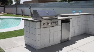 How to Build a BBQ/ Fire pit with cement block