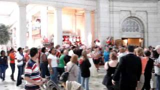 Union Station Erupts In Applause For Bride and Groom