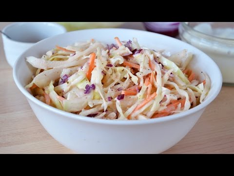 How To Make Coleslaw - Easy Homemade Cabbage Slaw Recipe